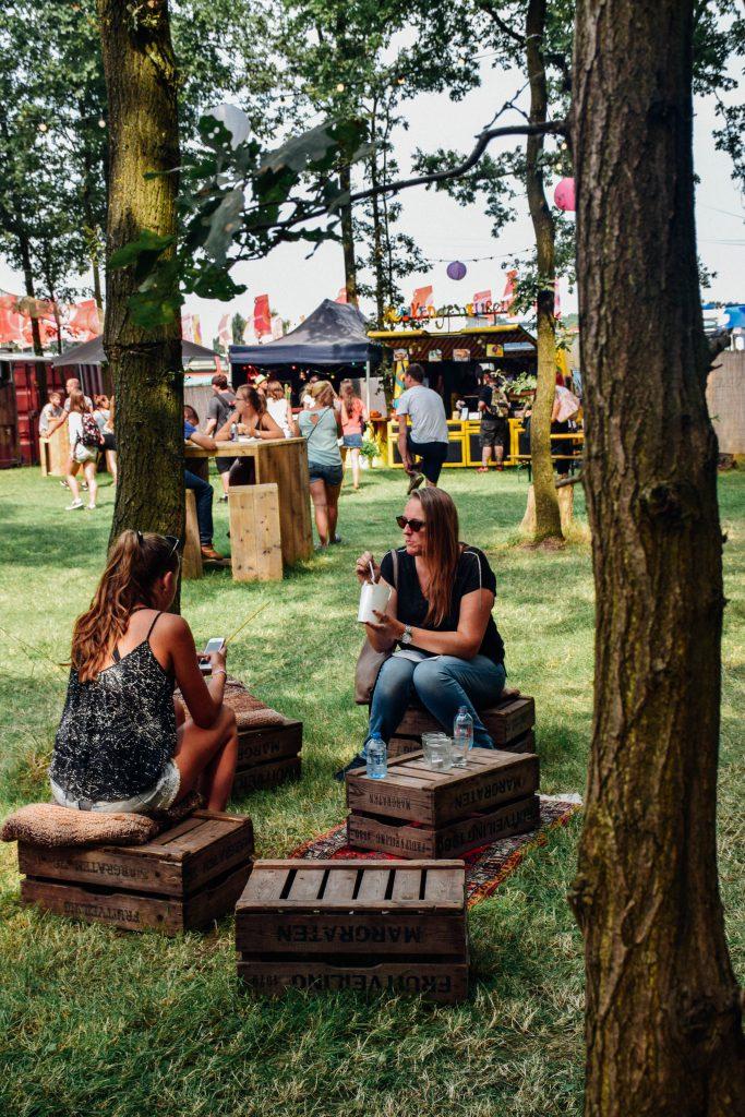 De groenste hoek van Pukkelpop: Food Wood. © Kriskras Kiewit